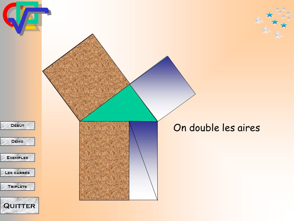 On double les aires