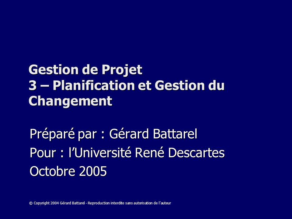 Gestion de Projet 3 – Planification et Gestion du Changement