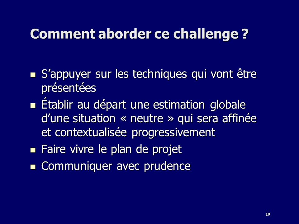 Comment aborder ce challenge