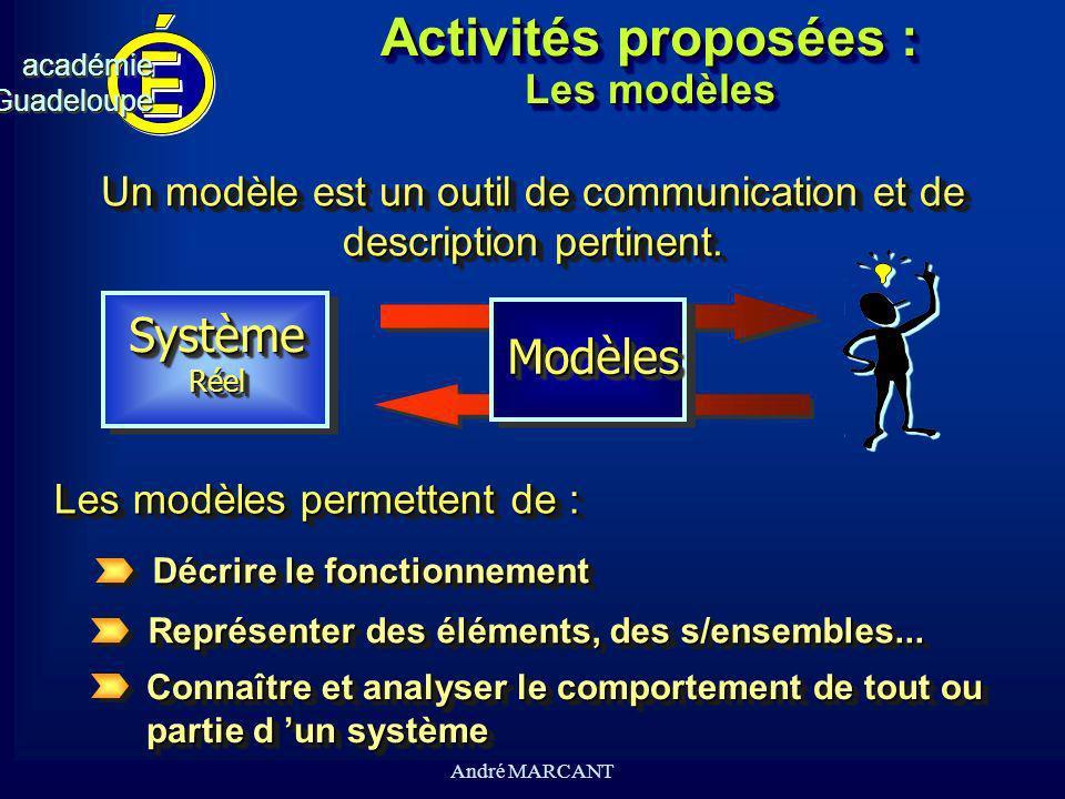 Activités proposées : Les modèles