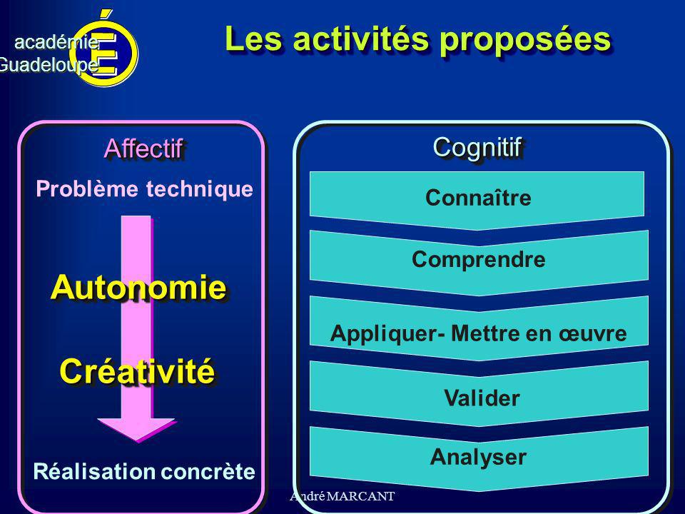 Les activités proposées