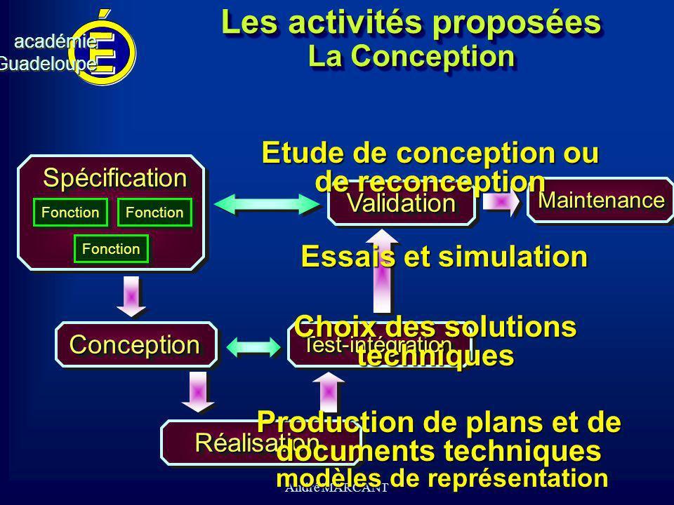 Les activités proposées La Conception