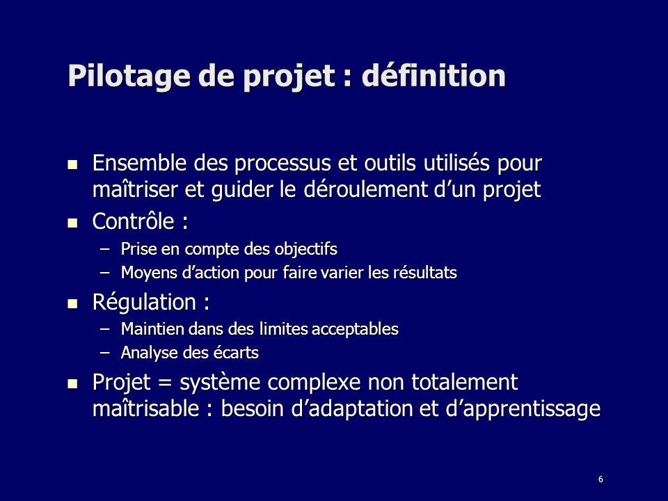 Pilotage de projet : définition