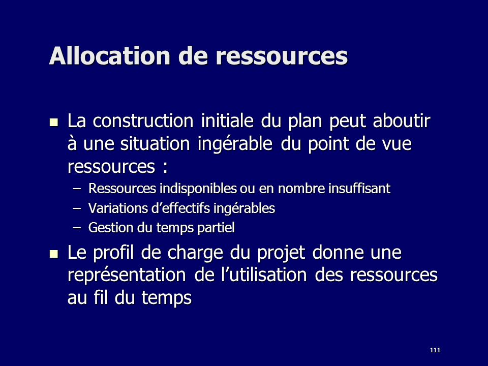 Allocation de ressources