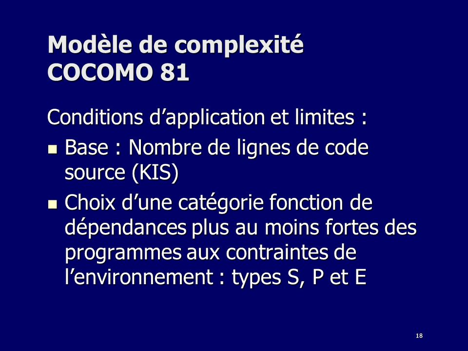 Modèle de complexité COCOMO 81