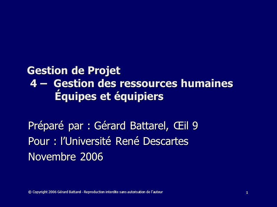 Préparé par : Gérard Battarel, Œil 9
