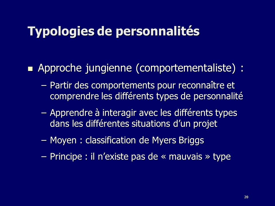 Typologies de personnalités