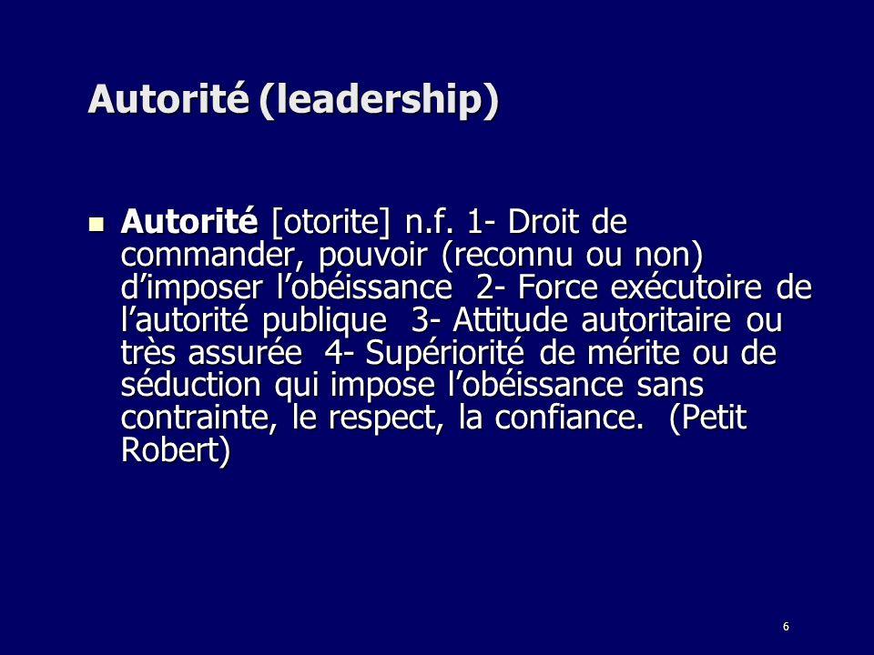 Autorité (leadership)