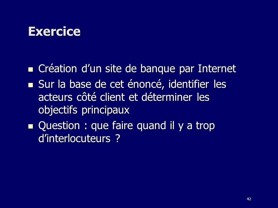 Exercice Création d'un site de banque par Internet
