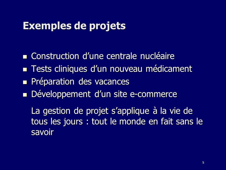 Exemples de projets Construction d'une centrale nucléaire