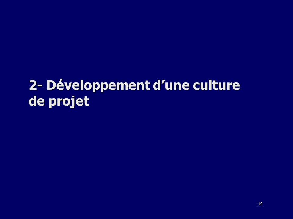 2- Développement d'une culture de projet