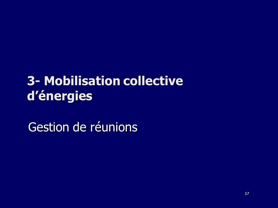3- Mobilisation collective d'énergies