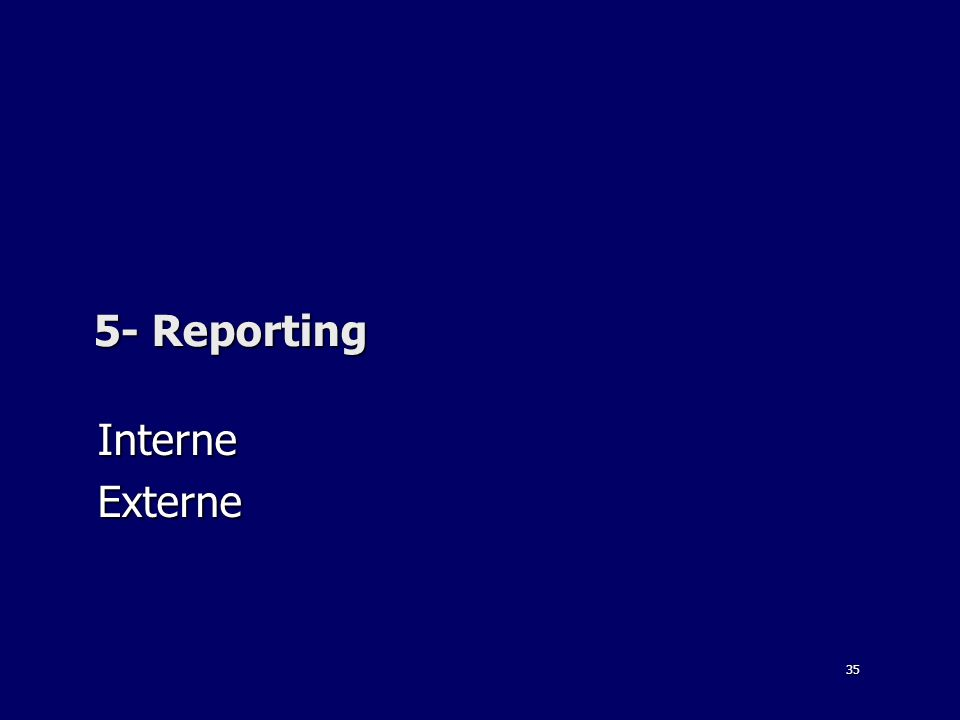 5- Reporting Interne Externe