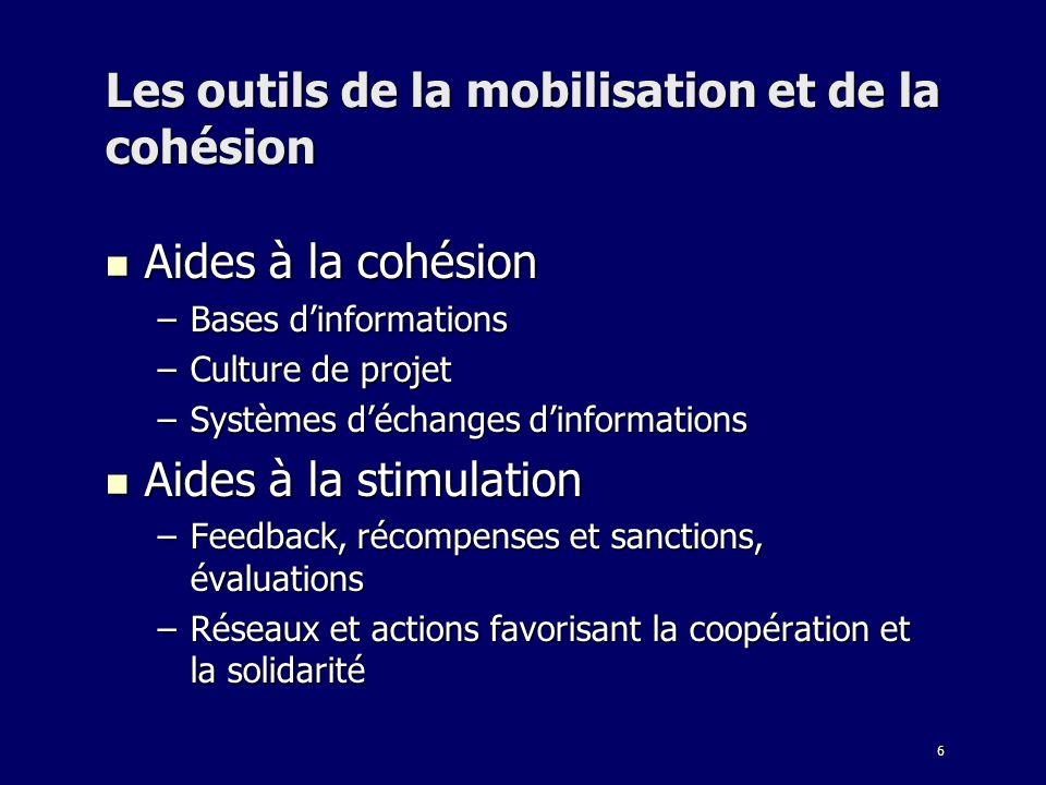 Les outils de la mobilisation et de la cohésion