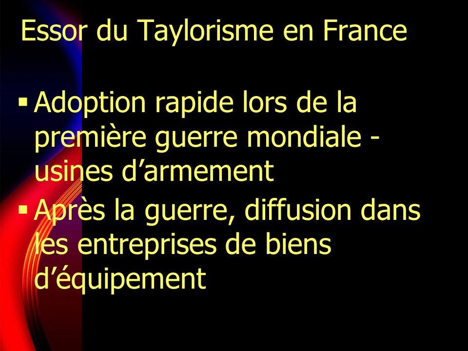 Essor du Taylorisme en France