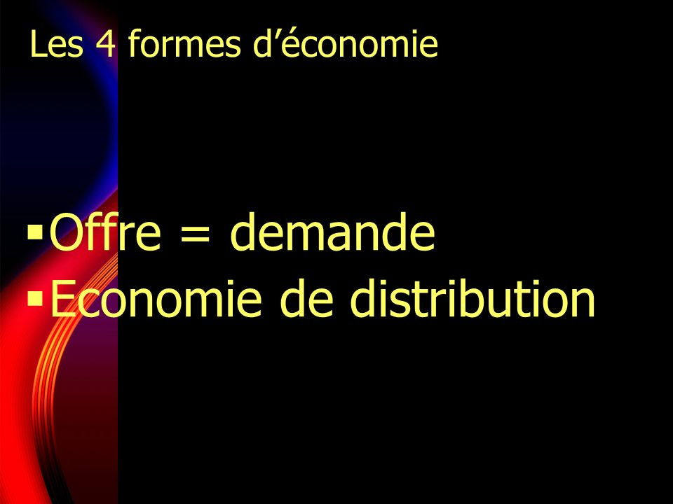 Economie de distribution