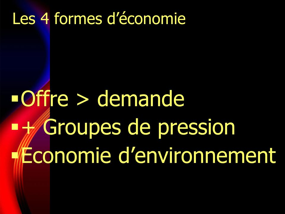 Economie d'environnement