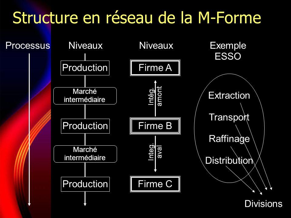 Structure en réseau de la M-Forme