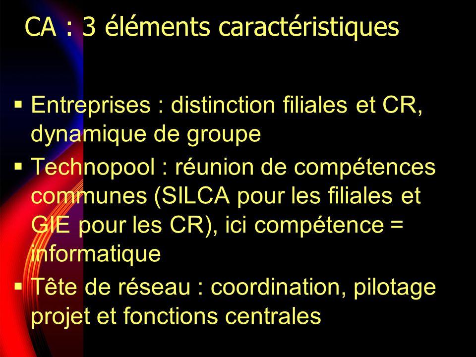 CA : 3 éléments caractéristiques