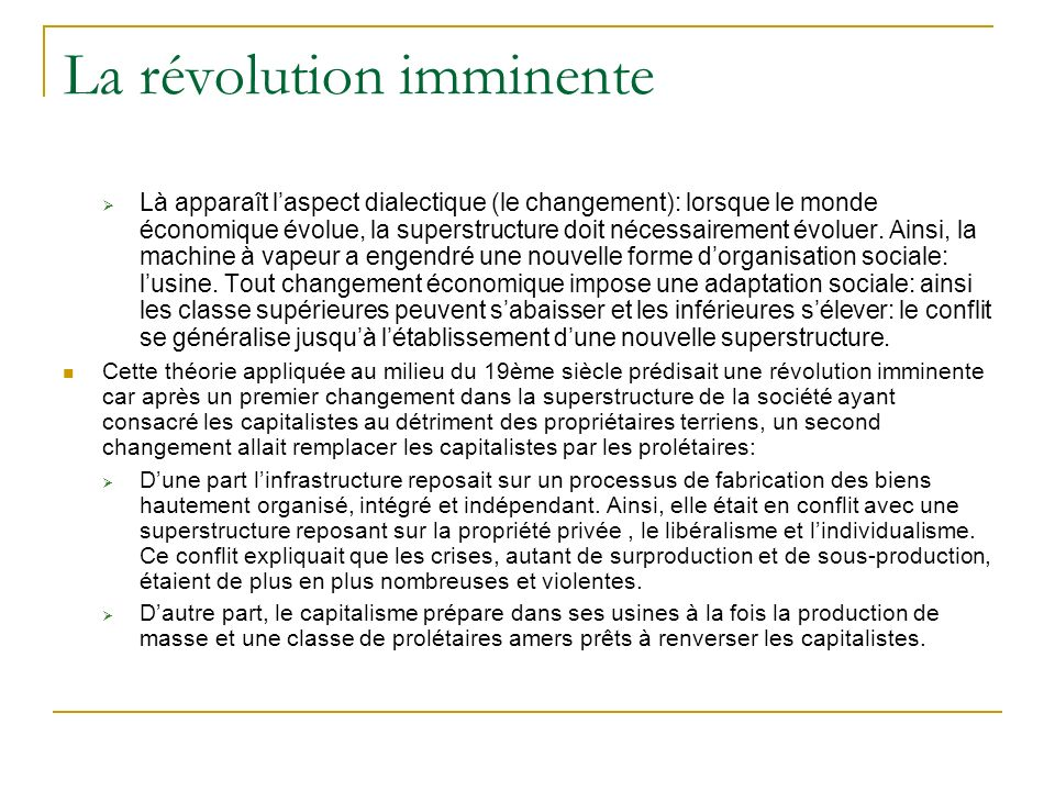 La révolution imminente