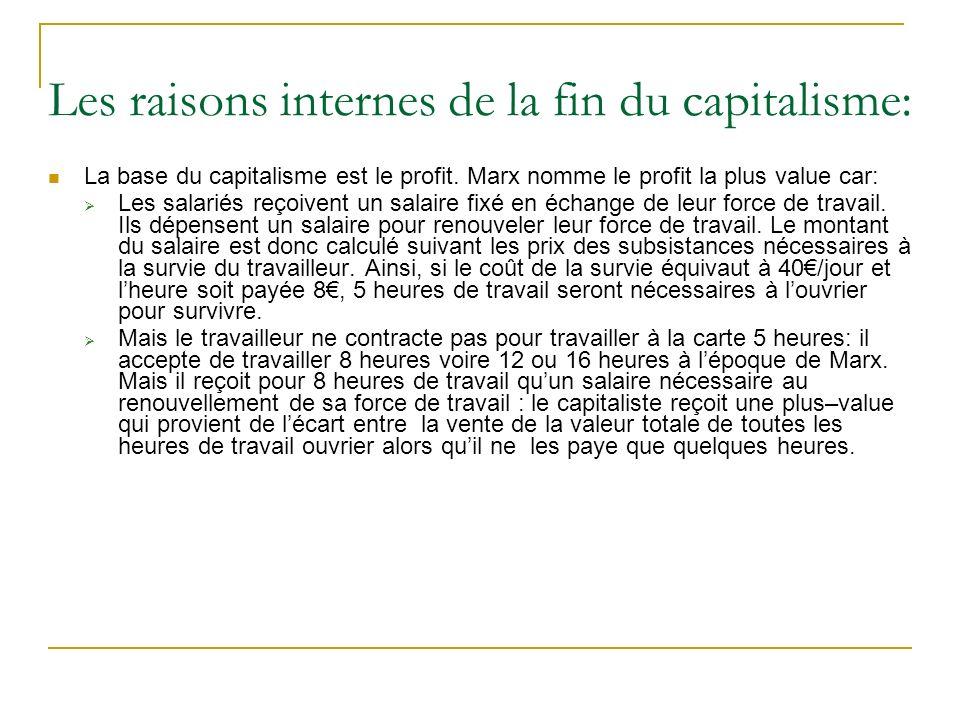 Les raisons internes de la fin du capitalisme: