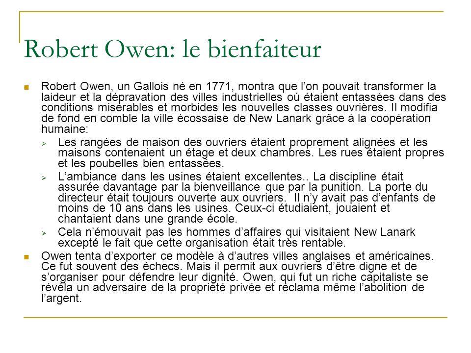 Robert Owen: le bienfaiteur