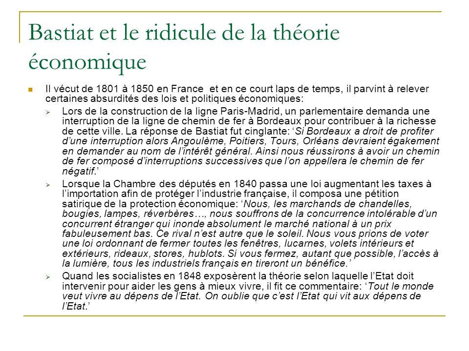 Bastiat et le ridicule de la théorie économique