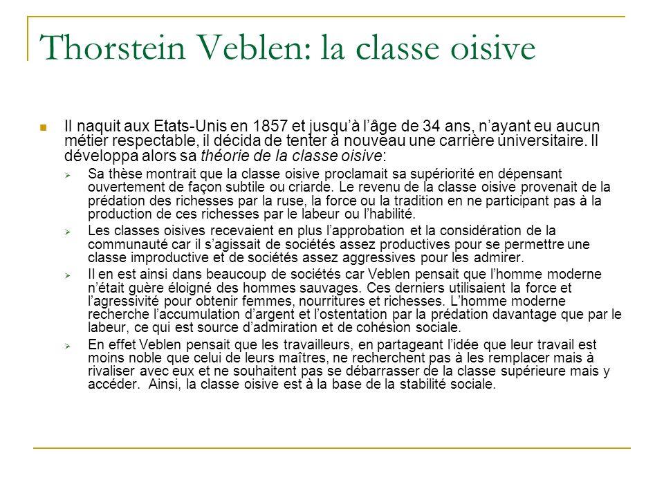 Thorstein Veblen: la classe oisive