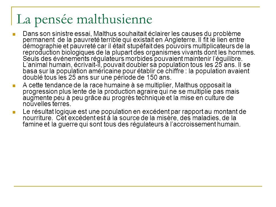La pensée malthusienne
