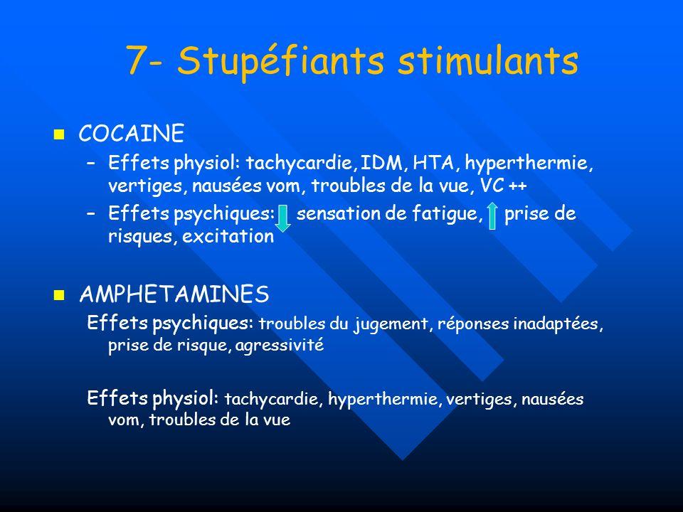 7- Stupéfiants stimulants