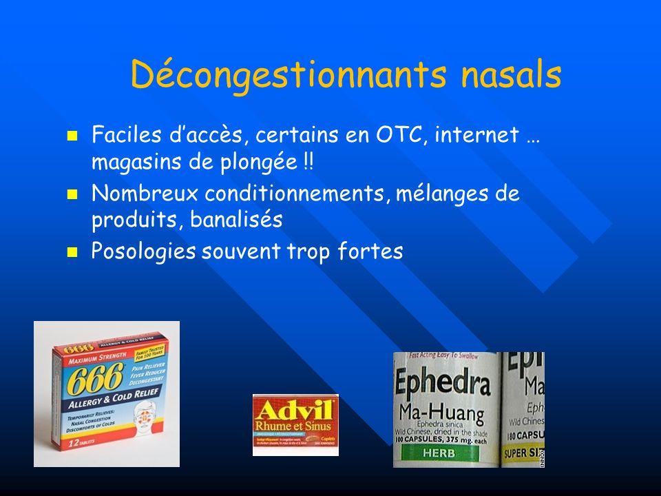 Décongestionnants nasals