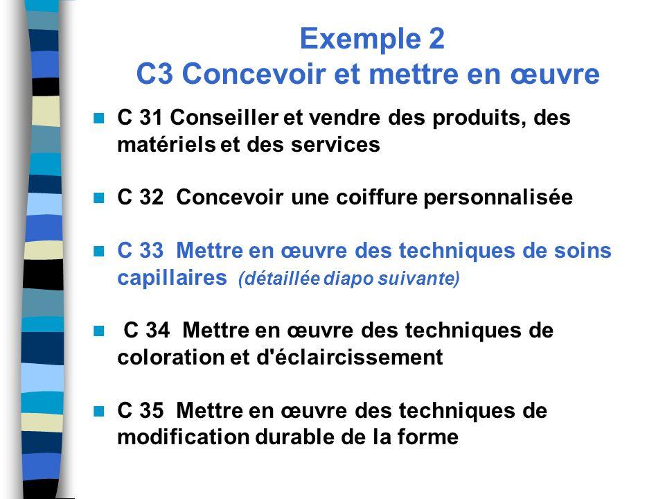 Exemple 2 C3 Concevoir et mettre en œuvre