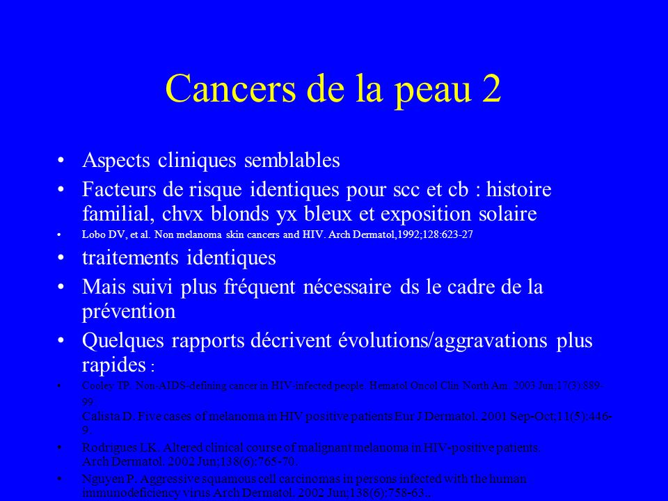 Cancers de la peau 2 Aspects cliniques semblables