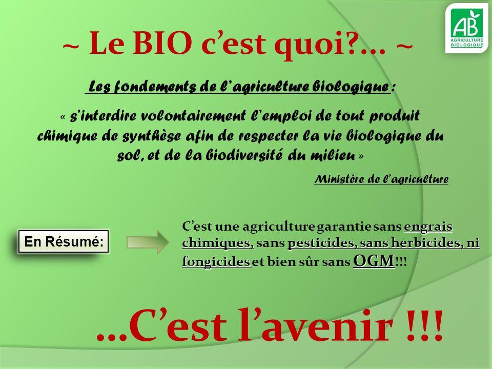 Les fondements de l'agriculture biologique :