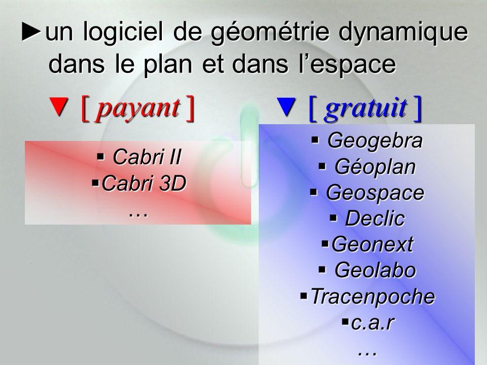 ►un logiciel de géométrie dynamique dans le plan et dans l'espace