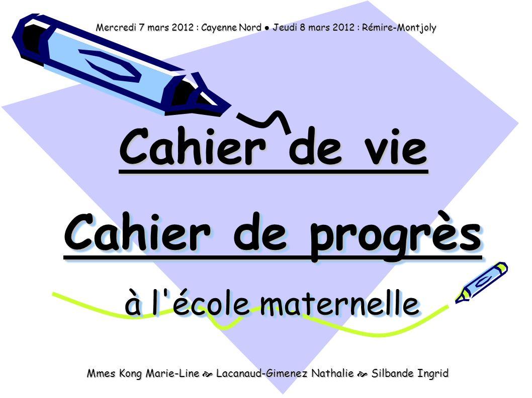 Cahier de progrès à l école maternelle