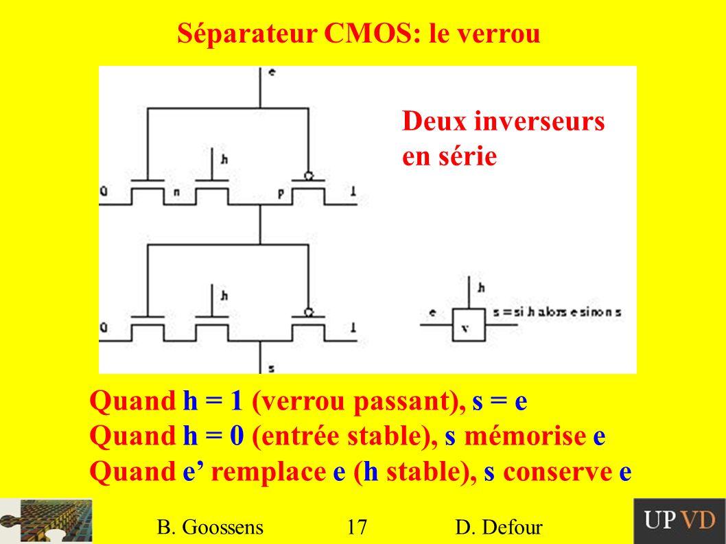 Séparateur CMOS: le verrou
