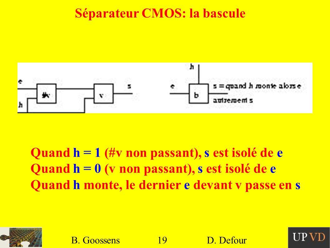 Séparateur CMOS: la bascule
