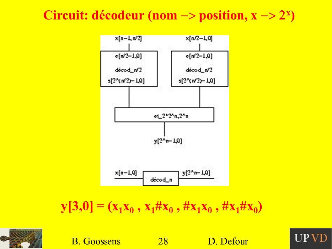 Circuit: décodeur (nom -> position, x -> 2x)
