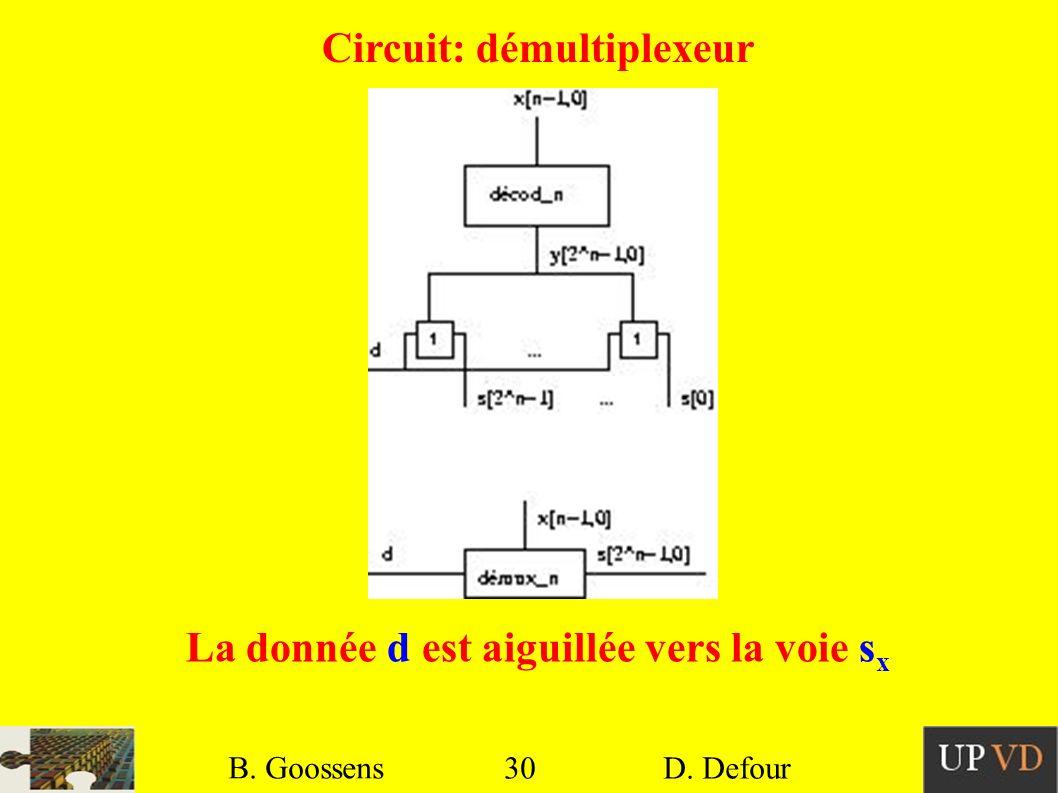 Circuit: démultiplexeur