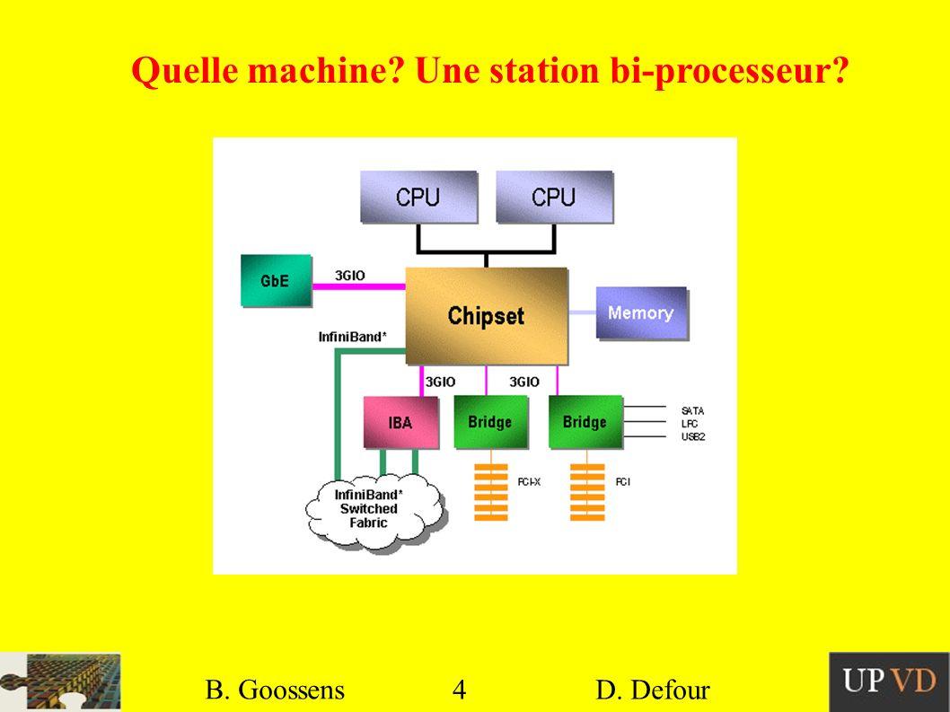 Quelle machine Une station bi-processeur