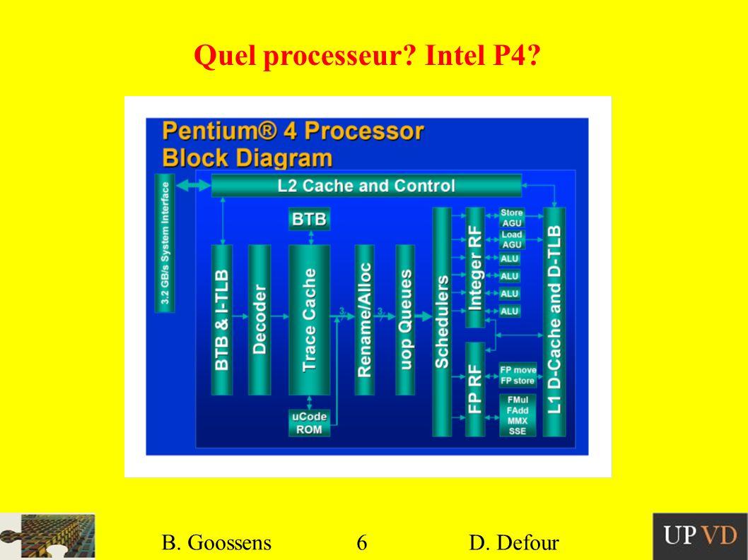 Quel processeur Intel P4