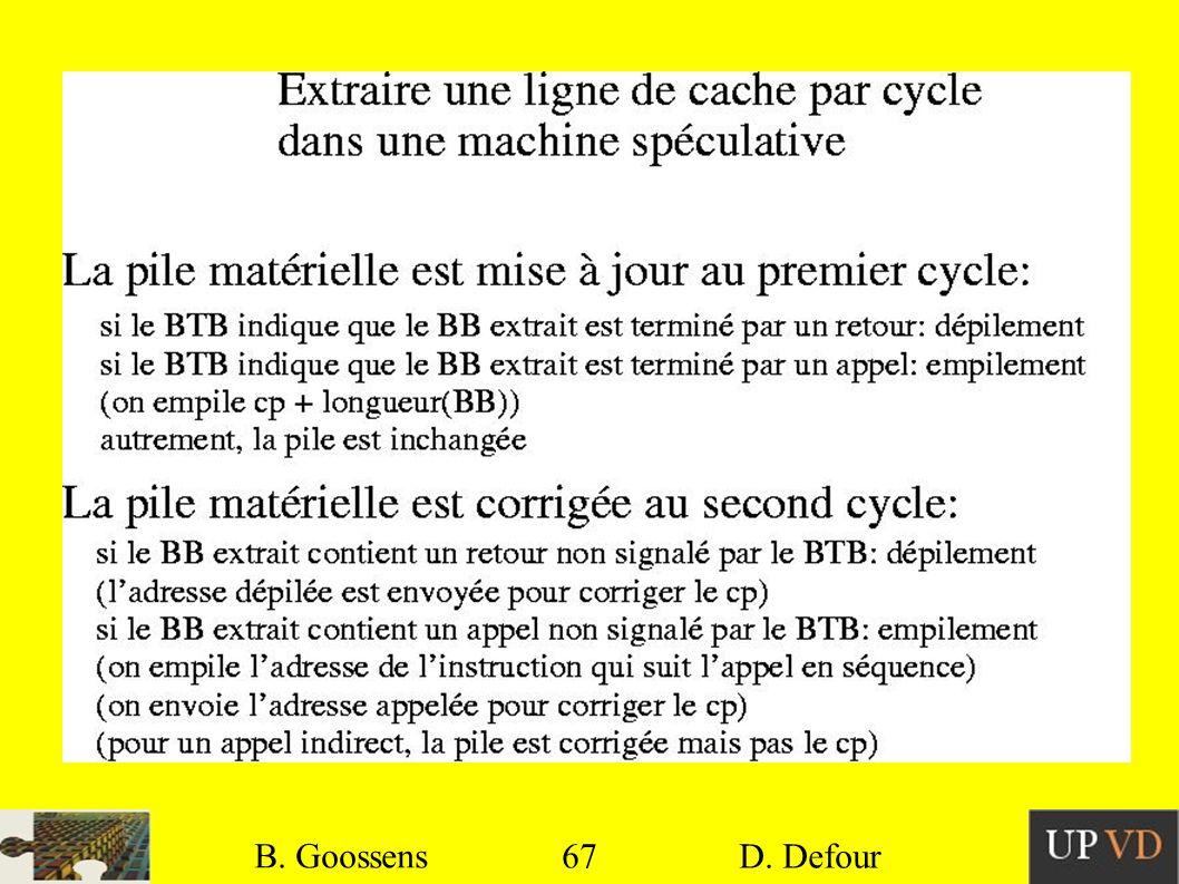 B. Goossens B. Goossens 67 67 D. Defour D. Defour