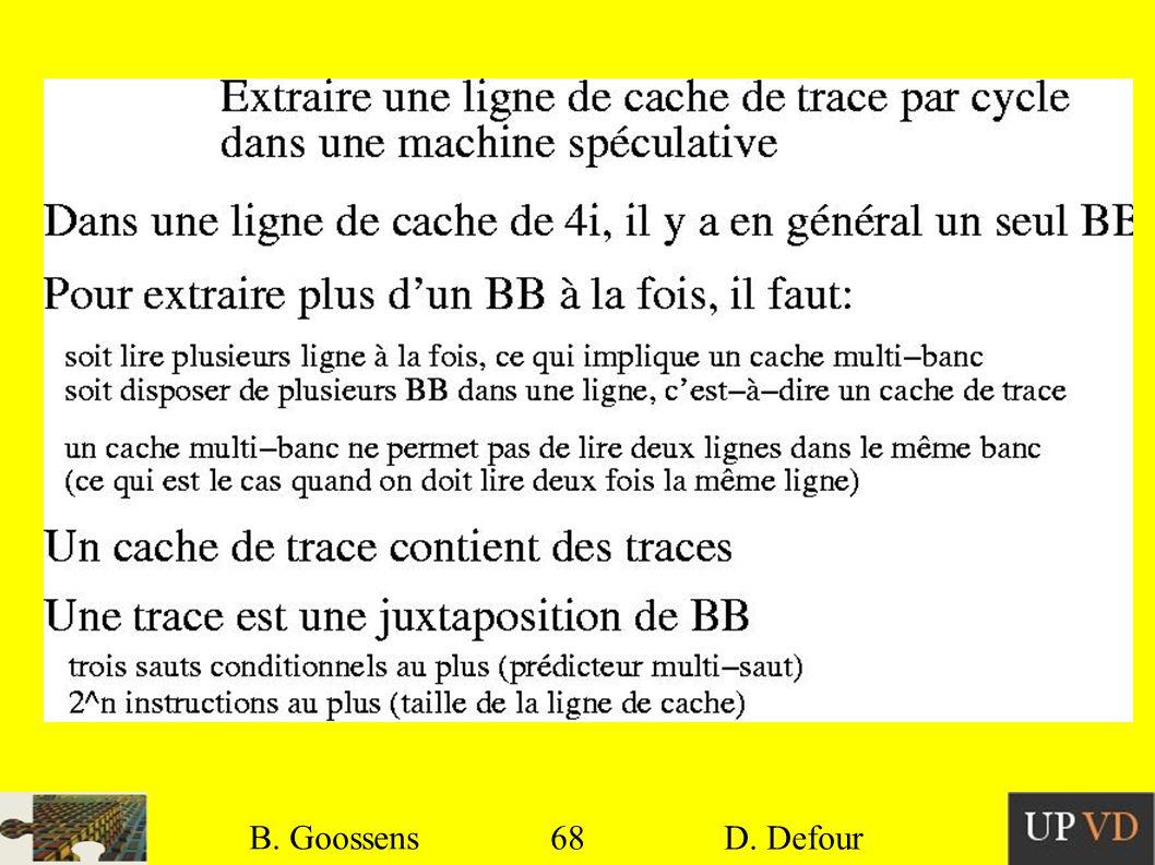 B. Goossens B. Goossens 68 68 D. Defour D. Defour