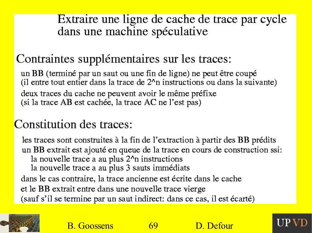 B. Goossens B. Goossens 69 69 D. Defour D. Defour