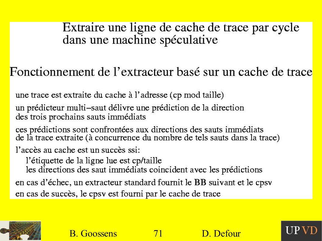 B. Goossens B. Goossens 71 71 D. Defour D. Defour