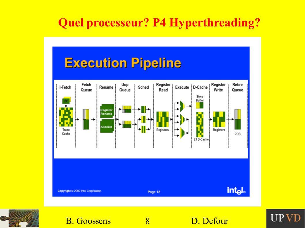 Quel processeur P4 Hyperthreading