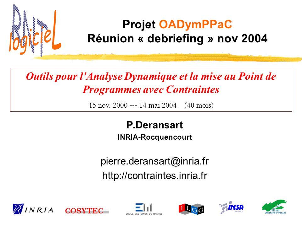Projet OADymPPaC Réunion « debriefing » nov 2004