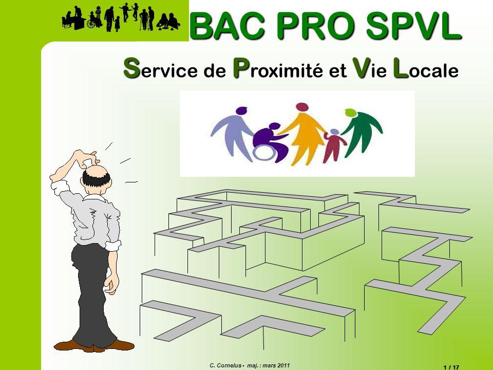 BAC PRO SPVL Service de Proximité et Vie Locale Commentaire Diapo 1
