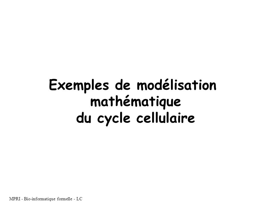 Exemples de modélisation